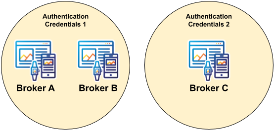 Data Isolation within Authentication Credentials